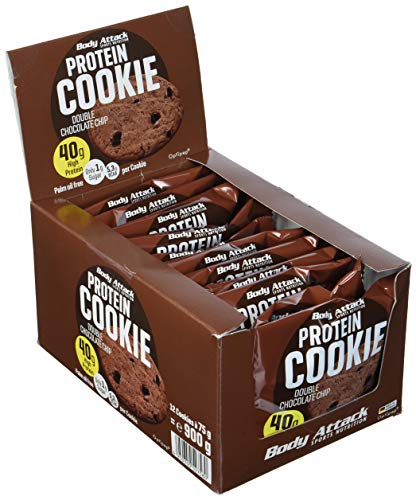 Body Attack Protein Cookie (12x 75g) (Double Chocolate Chip)